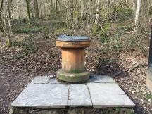 Old Bobbin at entrance to walk